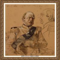 阿道夫门采尔Adolf Menzel德国著名油画家版画家插图画家绘画作品集素描手稿底稿经典作品图片 (19)