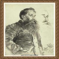 阿道夫门采尔Adolf Menzel德国著名油画家版画家插图画家绘画作品集素描手稿底稿经典作品图片 (11)