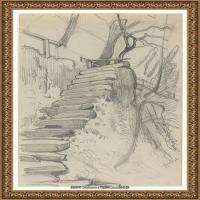 阿道夫门采尔Adolf Menzel德国著名油画家版画家插图画家绘画作品集素描手稿底稿经典作品图片 (27)