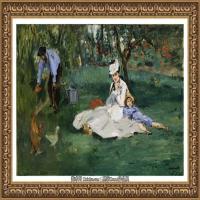 克劳德莫奈Claude Monet法国印象派画家绘画作品集莫奈名画高清图片Эдуард Мане  Семья Моне