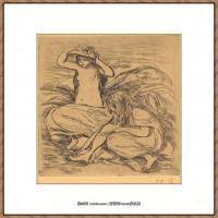 皮埃尔奥古斯特雷诺阿Pierre Auguste Renoir法国印象派重要画家雷诺阿印象派素描作品集The Two B