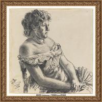 阿道夫门采尔Adolf Menzel德国著名油画家版画家插图画家绘画作品集素描手稿底稿经典作品图片 (4)