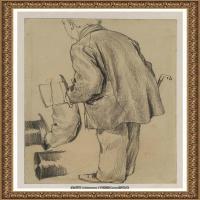 阿道夫门采尔Adolf Menzel德国著名油画家版画家插图画家绘画作品集素描手稿底稿经典作品图片 (20)