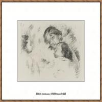 皮埃尔奥古斯特雷诺阿Pierre Auguste Renoir法国印象派重要画家雷诺阿印象派素描作品集UNE MERE
