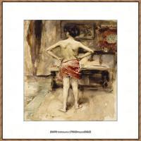 约翰萨金特John Singer Sargent美国肖像画家水彩画家绘画作品集萨金特水彩作品 (100)