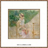 贝尔特莫里索Berthe Morisot法国印象派女画家绘画作品高清图片莫里索油画作品高清图片 (9)