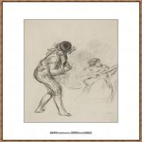 皮埃尔奥古斯特雷诺阿Pierre Auguste Renoir法国印象派重要画家雷诺阿印象派素描作品集MUSICIEN