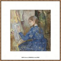 贝尔特莫里索Berthe Morisot法国印象派女画家绘画作品高清图片莫里索油画作品高清图片 (45)