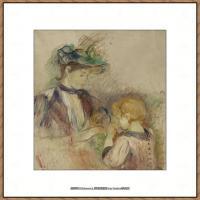 贝尔特莫里索Berthe Morisot法国印象派女画家绘画作品高清图片莫里索油画作品高清图片 (39)