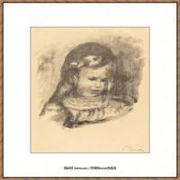 皮埃尔奥古斯特雷诺阿Pierre Auguste Renoir法国印象派重要画家雷诺阿印象派素描作品集 Claude R