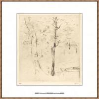 贝尔特莫里索Berthe Morisot法国印象派女画家绘画作品集素描手绘手稿底稿高清图片 (26)
