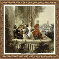 阿道夫门采尔Adolf Menzel德国著名油画家版画家插图画家绘画作品集西方绘画大师经典作品集 (20)