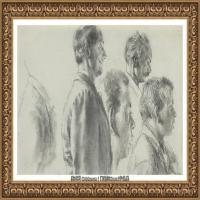 阿道夫门采尔Adolf Menzel德国著名油画家版画家插图画家绘画作品集素描手稿底稿经典作品图片 (7)