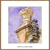 约翰萨金特John Singer Sargent美国肖像画家水彩画家绘画作品集萨金特水彩作品 (82)