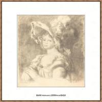 皮埃尔奥古斯特雷诺阿Pierre Auguste Renoir法国印象派重要画家雷诺阿印象派素描作品集 Bust of