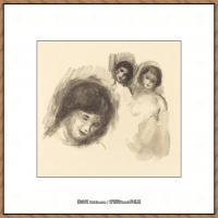 皮埃尔奥古斯特雷诺阿Pierre Auguste Renoir法国印象派重要画家雷诺阿印象派素描作品集 Stone wi