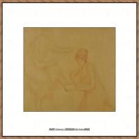 贝尔特莫里索Berthe Morisot法国印象派女画家绘画作品集素描手绘手稿底稿高清图片 (7)
