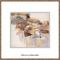 约翰萨金特John Singer Sargent美国肖像画家水彩画家绘画作品集萨金特水彩作品 (105)