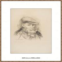 皮埃尔奥古斯特雷诺阿Pierre Auguste Renoir法国印象派重要画家雷诺阿印象派素描作品集AUTOPORTR