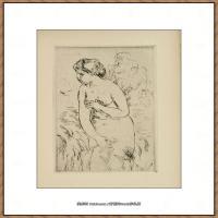 皮埃尔奥古斯特雷诺阿Pierre Auguste Renoir法国印象派重要画家雷诺阿印象派素描作品集DURET, TH