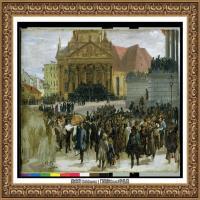 阿道夫门采尔Adolf Menzel德国著名油画家版画家插图画家绘画作品集西方绘画大师经典作品集 (18)