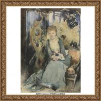 约翰萨金特John Singer Sargent美国肖像画家水彩画家绘画作品集萨金特油画作品 (60)