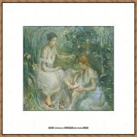 贝尔特莫里索Berthe Morisot法国印象派女画家绘画作品高清图片莫里索油画作品高清图片 (41)