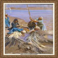约翰萨金特John Singer Sargent美国肖像画家水彩画家绘画作品集萨金特油画作品 (29)