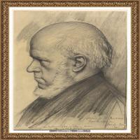 阿道夫门采尔Adolf Menzel德国著名油画家版画家插图画家绘画作品集素描手稿底稿经典作品图片 (31)