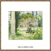 贝尔特莫里索Berthe Morisot法国印象派女画家绘画作品高清图片莫里索油画作品高清图片 (15)