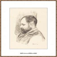 皮埃尔奥古斯特雷诺阿Pierre Auguste Renoir法国印象派重要画家雷诺阿印象派素描作品集Ambroise
