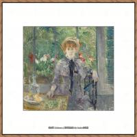 贝尔特莫里索Berthe Morisot法国印象派女画家绘画作品高清图片莫里索油画作品高清图片 (4)
