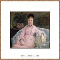 贝尔特莫里索Berthe Morisot法国印象派女画家绘画作品高清图片莫里索油画作品高清图片 (8)