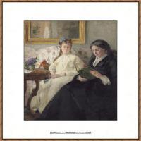 贝尔特莫里索Berthe Morisot法国印象派女画家绘画作品高清图片莫里索油画作品高清图片 (51)
