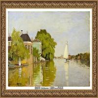 克劳德莫奈Claude Monet法国印象派画家绘画作品集莫奈名画高清图片Дома на Ахтерзаан