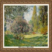 克劳德莫奈Claude Monet法国印象派画家绘画作品集莫奈名画高清图片Пейзаж Парк Монсо