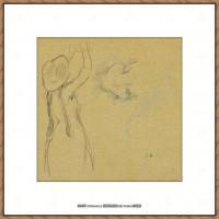 贝尔特莫里索Berthe Morisot法国印象派女画家绘画作品集素描手绘手稿底稿高清图片 (6)