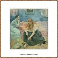 贝尔特莫里索Berthe Morisot法国印象派女画家绘画作品高清图片莫里索油画作品高清图片 (12)
