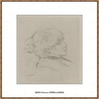 皮埃尔奥古斯特雷诺阿Pierre Auguste Renoir法国印象派重要画家雷诺阿印象派素描作品集BERTHE MO