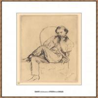 皮埃尔奥古斯特雷诺阿Pierre Auguste Renoir法国印象派重要画家雷诺阿印象派素描作品集Marcellin