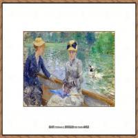 贝尔特莫里索Berthe Morisot法国印象派女画家绘画作品高清图片莫里索油画作品高清图片 (60)