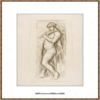 皮埃尔奥古斯特雷诺阿Pierre Auguste Renoir法国印象派重要画家雷诺阿印象派素描作品集LE JOUEUR