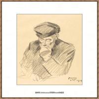 皮埃尔奥古斯特雷诺阿Pierre Auguste Renoir法国印象派重要画家雷诺阿印象派素描作品集JeanLouis