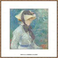 贝尔特莫里索Berthe Morisot法国印象派女画家绘画作品高清图片莫里索油画作品高清图片 (52)