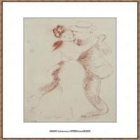 皮埃尔奥古斯特雷诺阿Pierre Auguste Renoir法国印象派重要画家雷诺阿印象派素描作品集ETUDE POU