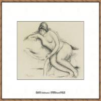 皮埃尔奥古斯特雷诺阿Pierre Auguste Renoir法国印象派重要画家雷诺阿印象派素描作品集FEMME NUE