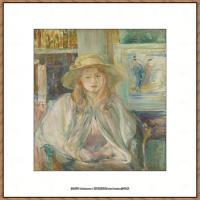 贝尔特莫里索Berthe Morisot法国印象派女画家绘画作品高清图片莫里索油画作品高清图片 (23)