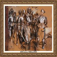 阿道夫门采尔Adolf Menzel德国著名油画家版画家插图画家绘画作品集西方绘画大师经典作品集 (6)