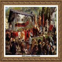 阿道夫门采尔Adolf Menzel德国著名油画家版画家插图画家绘画作品集西方绘画大师经典作品集 (13)