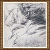 阿道夫门采尔Adolf Menzel德国著名油画家版画家插图画家绘画作品集素描手稿底稿经典作品图片 (13)